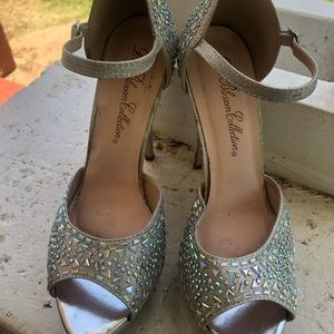 Iridescent Stoned Heels